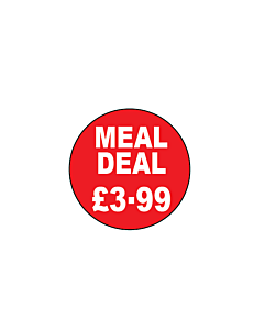 Meal Deal £3.99 Stickers 20mm