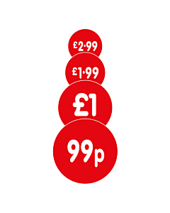 Red 40mm Price Labels