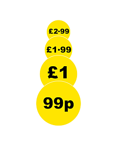 Yellow 40mm Price Labels