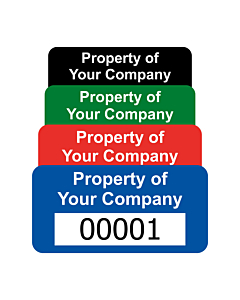 Premium Polyester Asset Labels Number 40x20mm