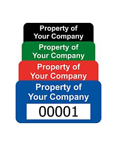 Budget Polyester Asset Labels Number 40x20mm