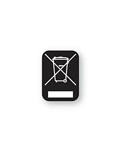 Black WEEE Labels 10x13mm
