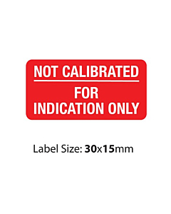 Red Not Calibrated Labels (30x15mm)