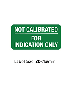 Green Not Calibrated Labels (30x15mm)