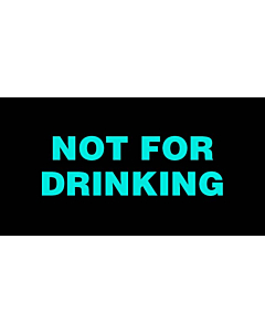 Not For Drinking Labels 50x25mm