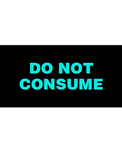 Do Not Consume Labels 50x25mm