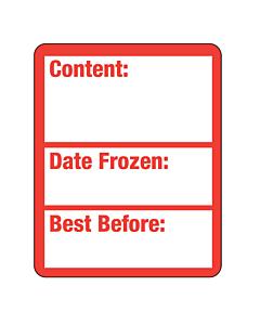 Frozen Food Best Before Labels 40x50mm