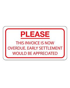 Invoice Now Overdue Label 63x33mm