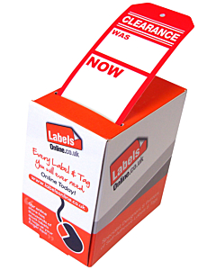 Red Clearance Tags 110x55mm