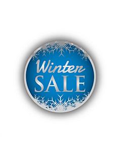 Winter Sale Stickers 30mm Permanent