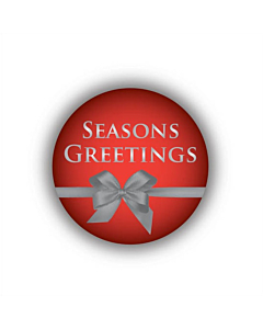 Seasons Greetings Stickers 30mm Permanent