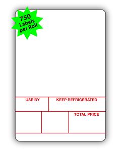 Avery Berkel Scale Labels Format 1 50x73mm (10 Rolls / 7,500 Labels)