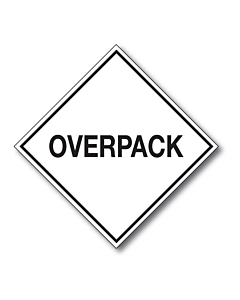 Overpack Labels 100x100mm