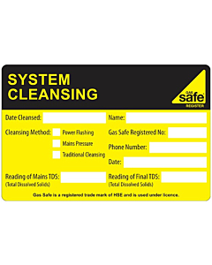 System Cleansing Labels 100x65mm