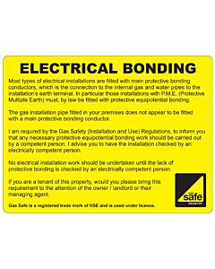 Electrical Bonding Labels 100x75mm