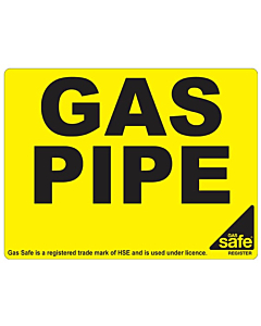 Gas Pipe Identification Labels 100x75mm