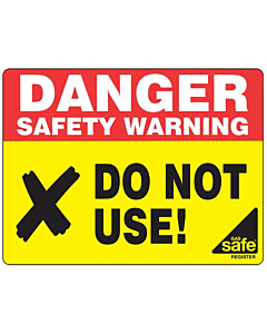 Danger Do Not Use Labels 100x75mm