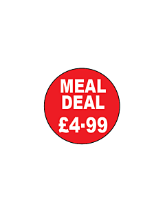 Meal Deal £4.99 Stickers 20mm