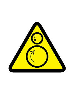 Counter-Rotating Rollers Warning Labels