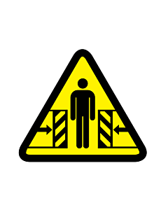 Crushing By Moving Parts Warning Labels