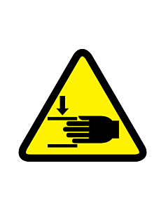 Crushing of Hands Warning Labels