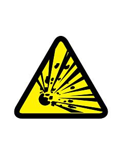 Explosive Materials Warning Labels