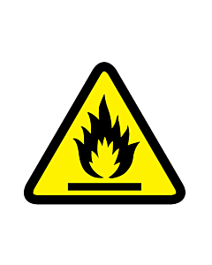 Flammable Material Warning Labels