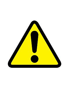 General Warning Symbol Labels