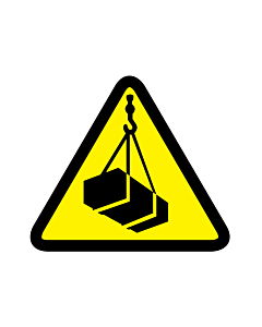 Overhead or Suspended Load Warning Labels