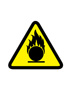 Laser Beam Warning Labels 50x50mm