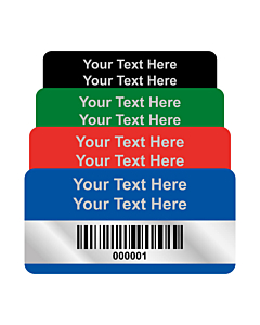 Premium Silver Polyester Asset Labels Barcode 50x25mm