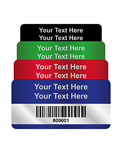 Silver Void Asset Labels Barcode 50x25mm