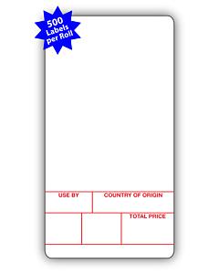Avery Berkel Scale Labels Format 1 49x92mm (10 Rolls / 5,000 Labels)