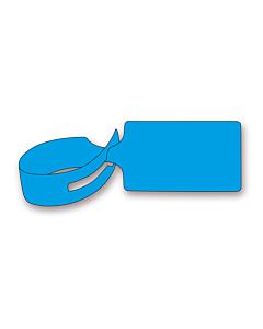 Blue Loop Through Tags 245x61mm