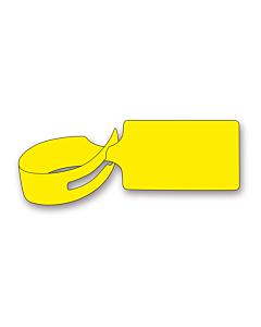 Yellow Loop Through Tags 245x61mm