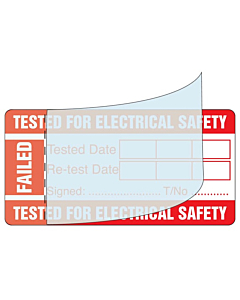 Write & Seal PAT Test Failed Labels 50x25mm