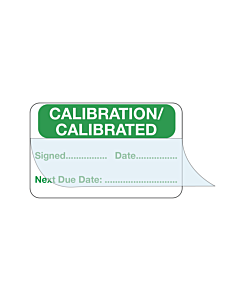 Write & Seal Calibration Labels 40x25mm