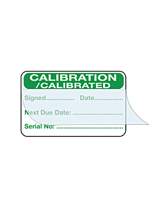 Write & Seal Calibration Labels with Serial Number 40x25mm