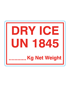 DRY ICE UN 1845 Labels 100x75mm