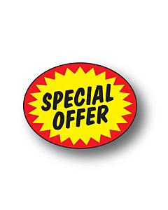 Starburst Special Offer Labels 37x28mm Permanent