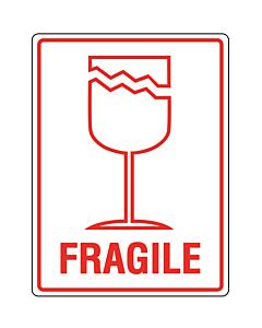 Fragile Labels 75x100mm