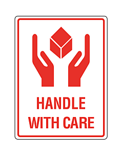 Handle With Care Labels 75x100mm