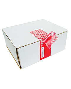 Tamper Evident Void Labels Red 150x50mm