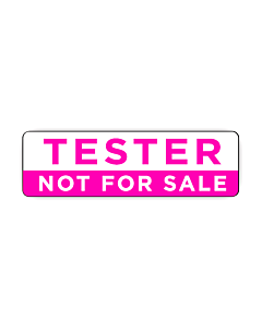 Tester Not For Sale Stickers 50x15mm