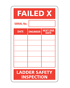 Ladder Safety Inspection Failed Label 50x80mm