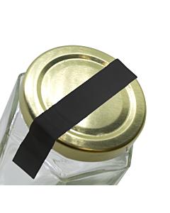 Black Jar Seal Label Strips 140x10mm