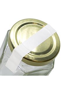 White Jar Seal Label Strips 140x10mm