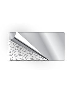 Silver Void Stickers 40x20mm
