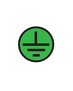 Electrical Protected Earth Symbol Labels 10mm