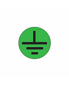 Electrical Earth Symbol Label 10mm